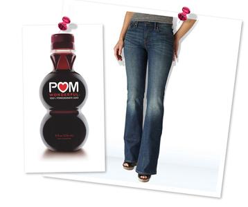 Pomegranate juice-shaped