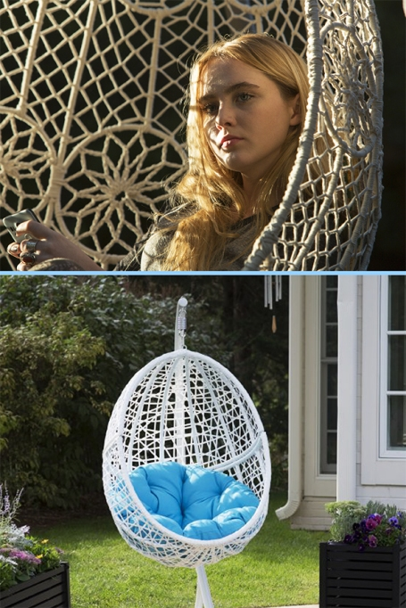 Island Bay Resin Wicker Blanca Hanging Egg Chair