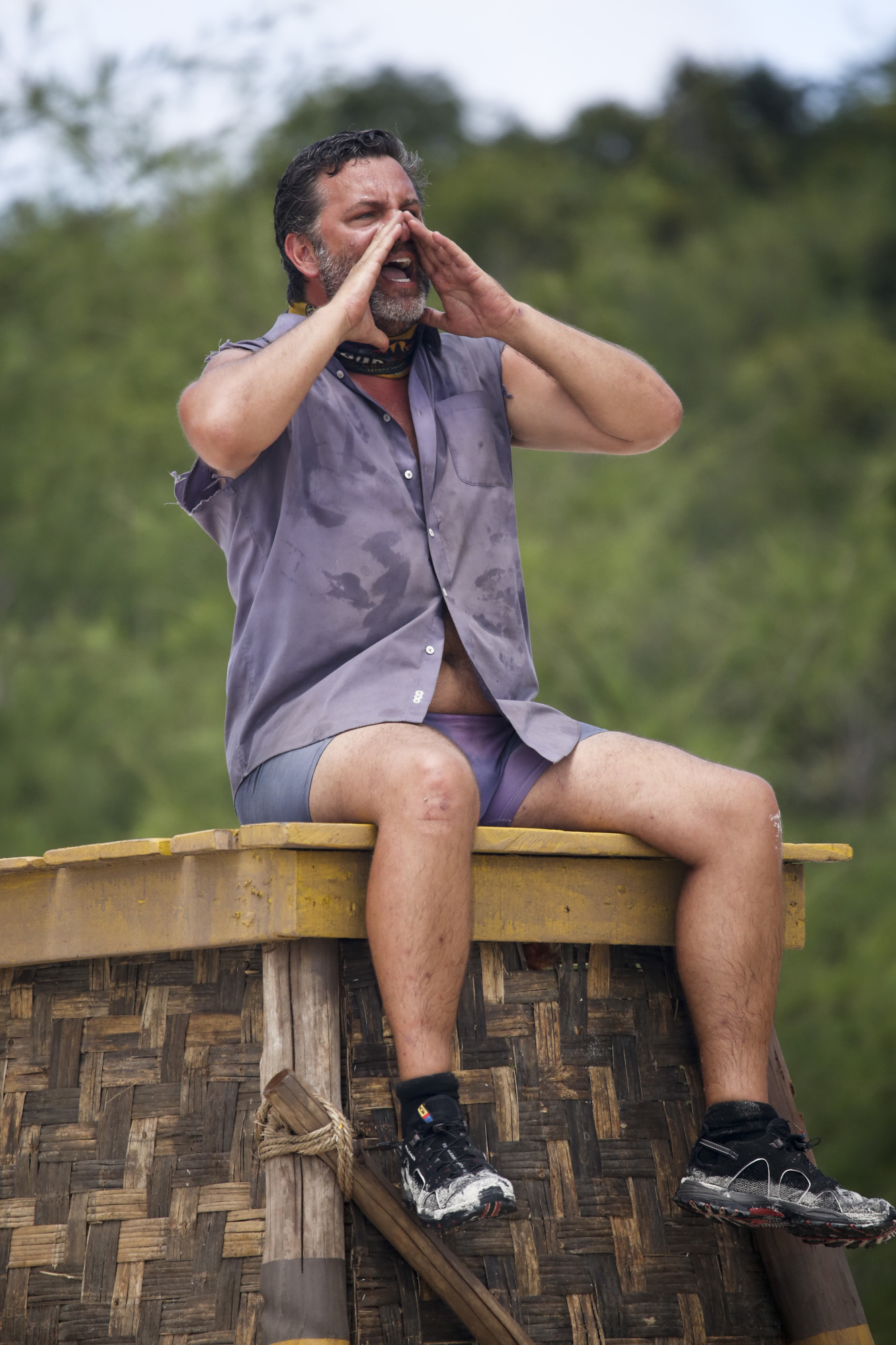 Jeff Varner competes in Immunity challenge on Survivor: Second Chance