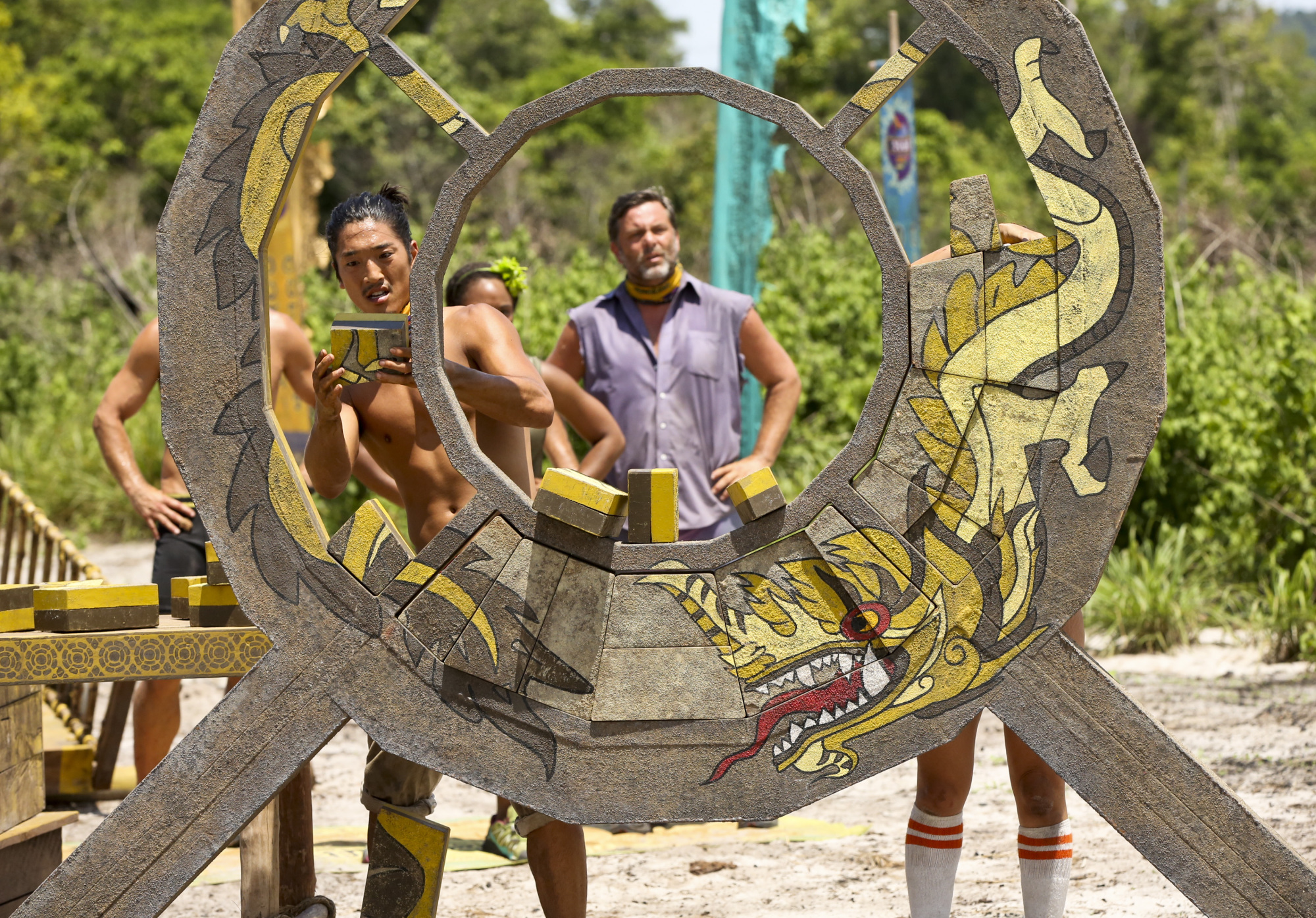 Jeff Varner during puzzle challenge on Survivor: Second Chance