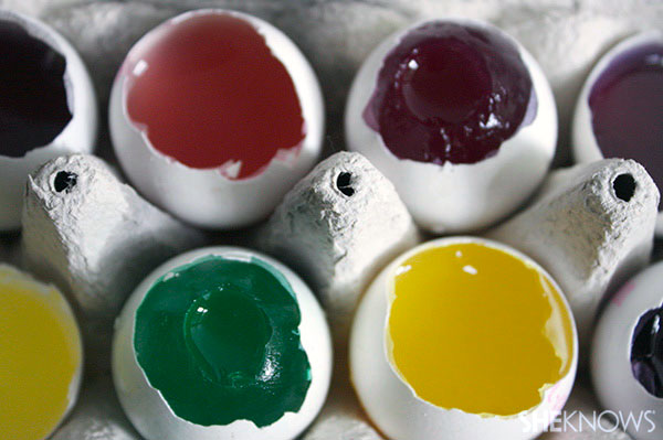 How to make jelly eggs: Finished