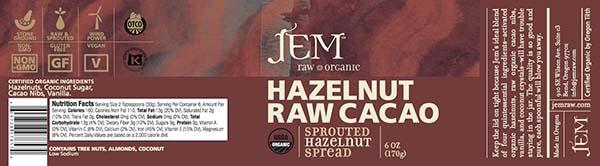 JEM Raw Organics nut butter