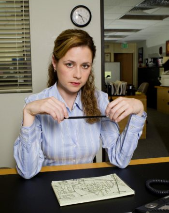 Jenna Fischer is Pam on The Office