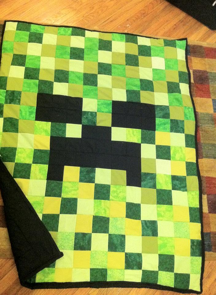 Jenni's Minecraft quilt