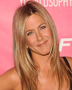 Jennifer Aniston at party for yoga book
