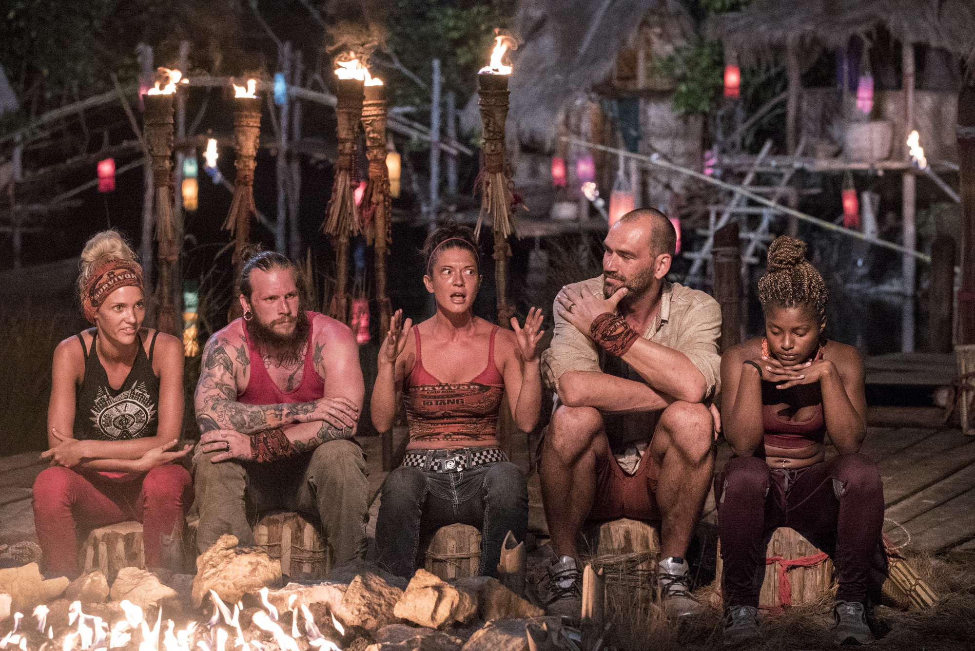 Jennifer Lanzetti pleads her case at Tribal Council on Survivor: Kaoh Rong