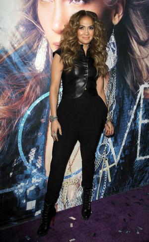 Jennifer Lopez wearing all black