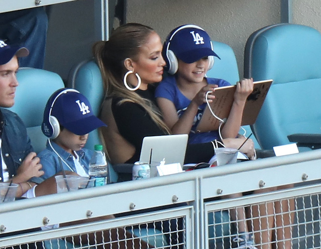 Jennifer Lopez at Dodgers Opening Day