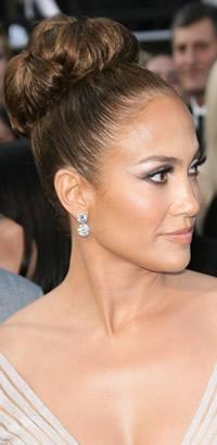 Jennifer Lopez chignon hairstyle