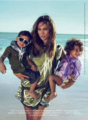 Jennifer Lopez Gucci ad with twins Max and Emme