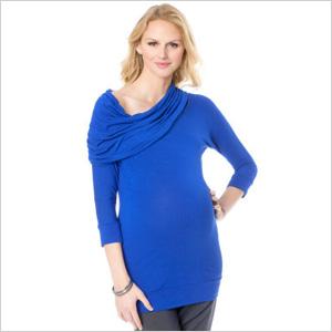 L By Jennifer Love Hewitt 3/4 Sleeve Cowl Neck Maternity Tunic (destinationmaternity.com, $95)