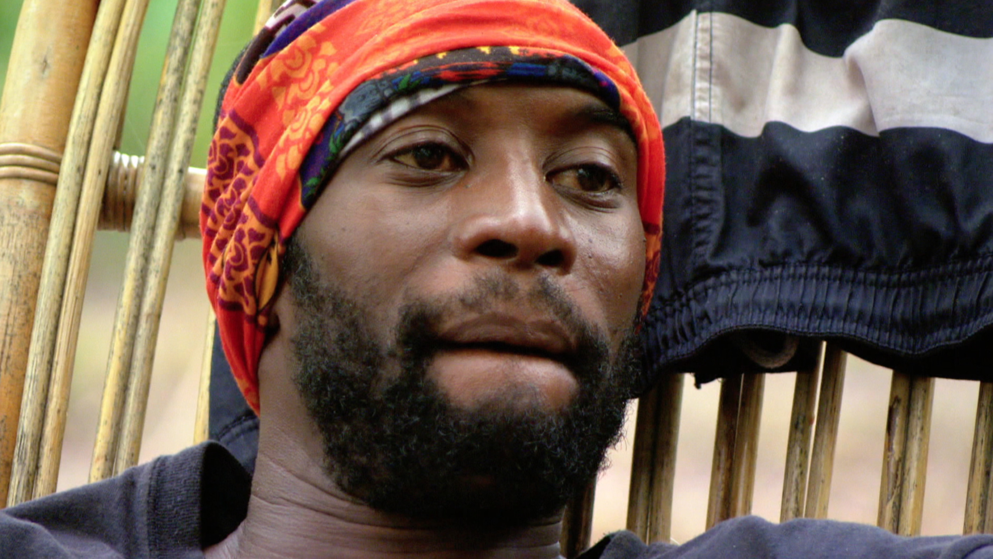 Jeremy Collins at camp on Survivor: Second Chance