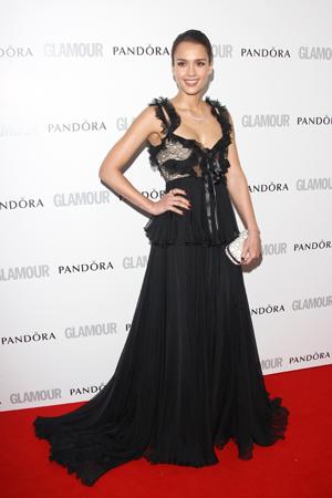 jessica alba glamour women of the year awards