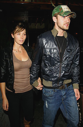 Justin and Jessica out on the town