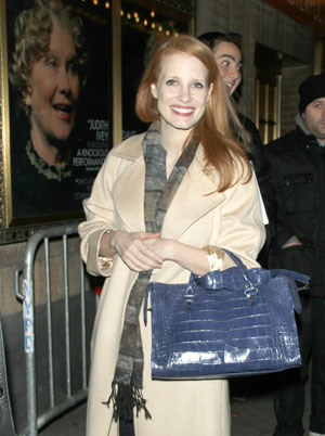 Jessica Chastain arrives at theater