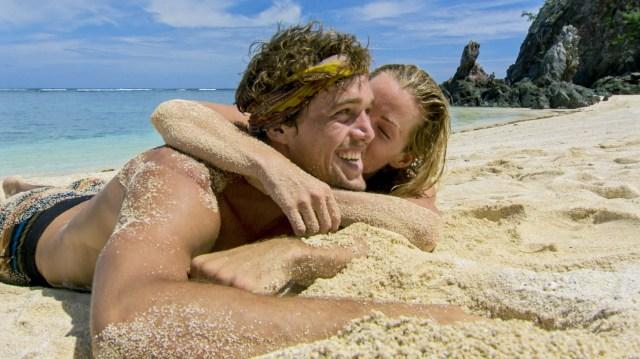 Jessica Johnston kisses Cole Medders on Survivor: Heroes Vs. Healers Vs. Hustlers