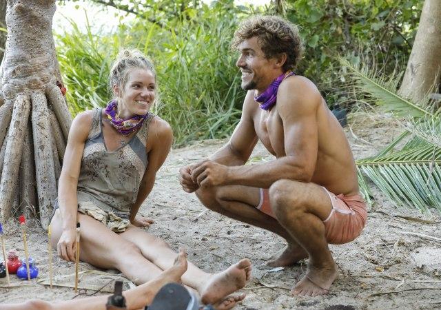 Jessica Johnston with Cole Medders on Survivor: Heroes Vs. Healers Vs. Hustlers