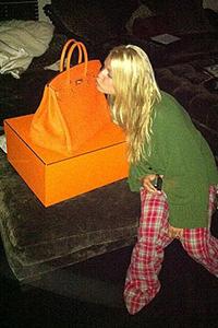Jessica Simpson Hermes Birkin bag
