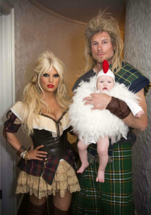 Jessica Simpson, Eric Johnson, and Baby Maxwell Halloween Costumes 2012