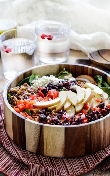 Yummy Winter Salads You'll Actually Crave   Apple Cranberry Bacon Candied Walnut Salad