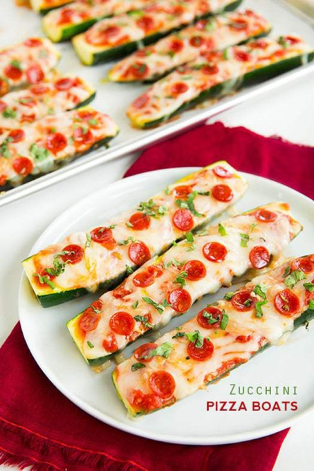 Healthy Pizza Recipes to Get Hooked On | Zucchini Pizza Boats