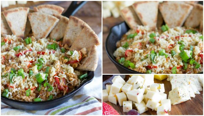One-skillet cheesy chicken taco and bacon
