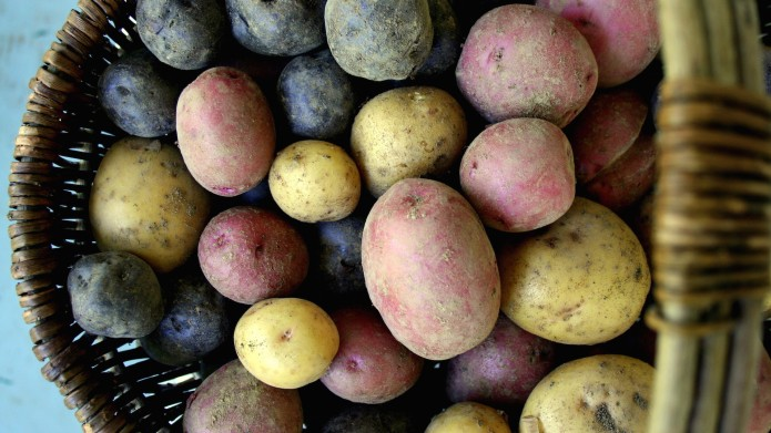 Peel potatoes super fast with this