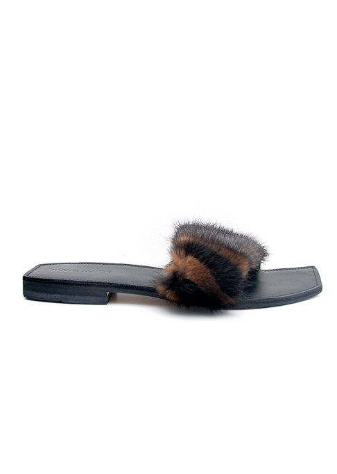 The Most-Pinned Summer Fashion Trends of 2017: Parme Marin Furry Baby Slides | Summer Fashion Trends
