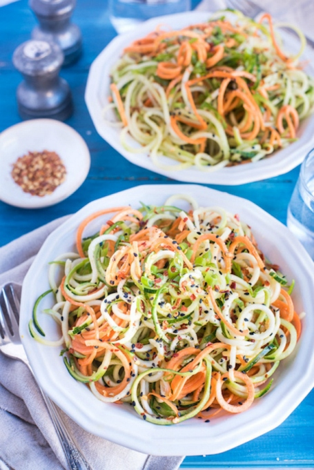 Zucchini, Carrot & Cucumber Zoodles Recipe