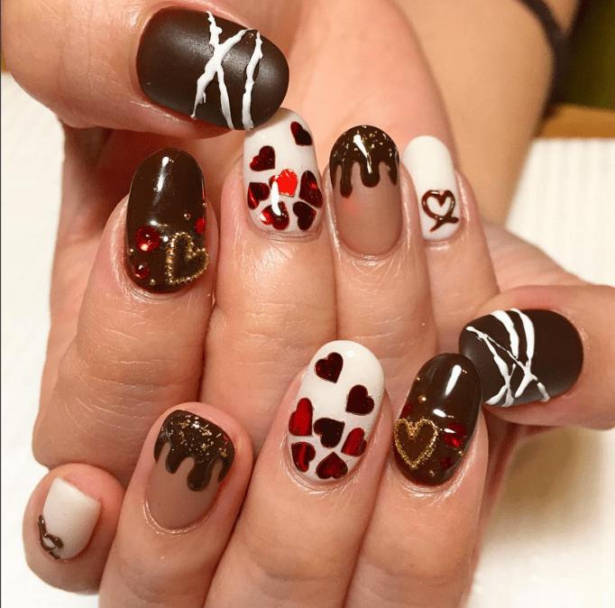 Chocolate dipped nail deisgn