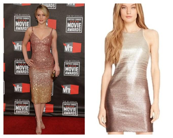 Jennifer Lawrence ombré dress