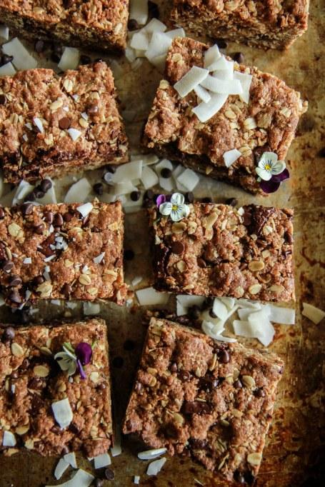 Dairy free dessert recipes: Chocolate chia oatmeal cookie bars