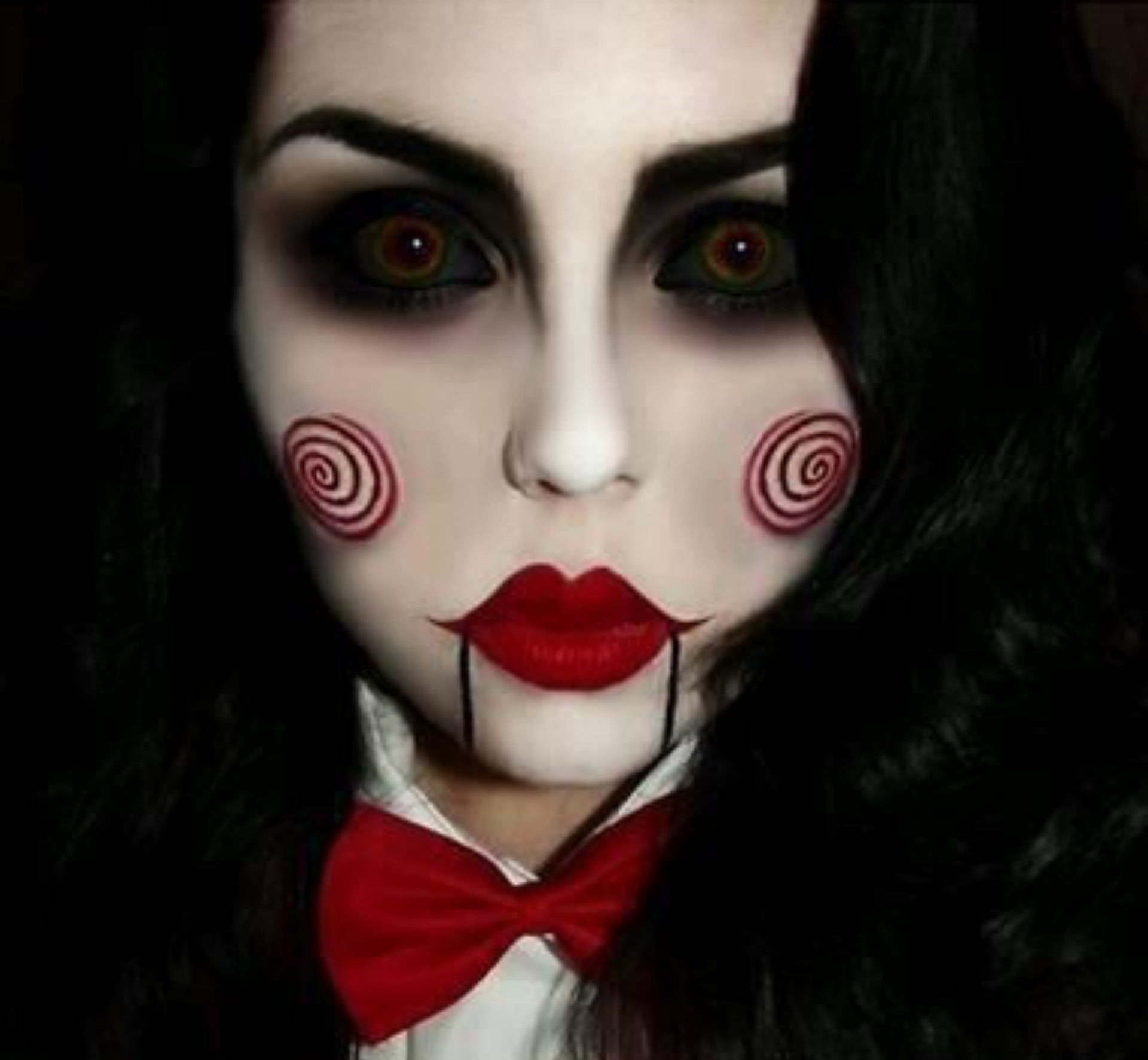 Sexy Jigsaw Halloween makeup for adults