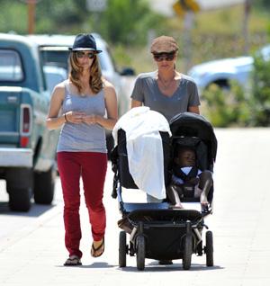 Jillian Michaels, her partner Heidi and kids