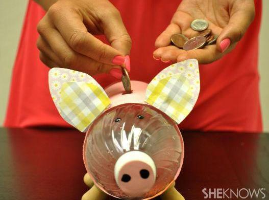 Create a piggy bank from a