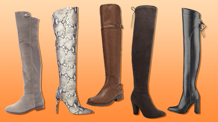 21 pairs of over-the-knee boots that