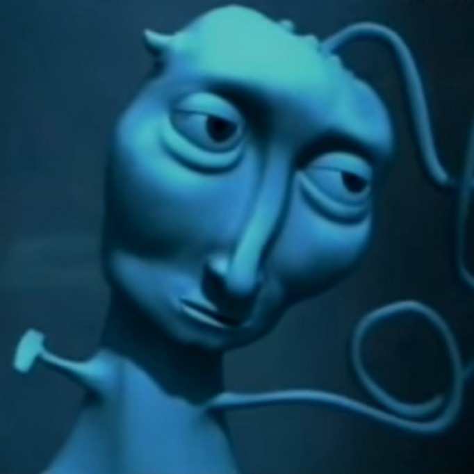 Courage the Cowardly Dog Blue Creature