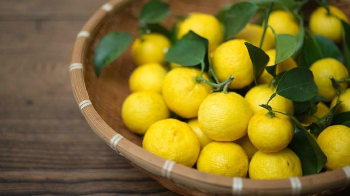 Japanese yuzu fruit may have some