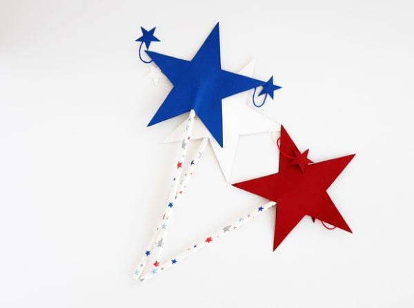 DIY patriotic star wands