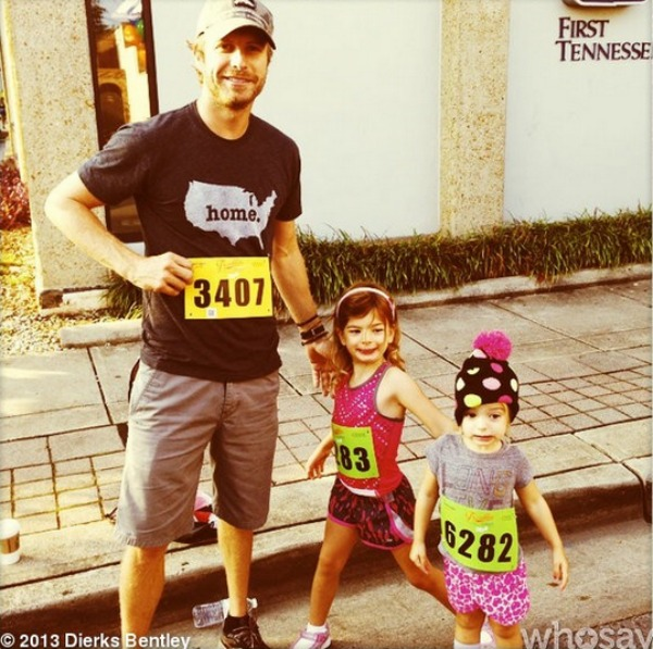 Dierks Bentley with Evie and Jordan