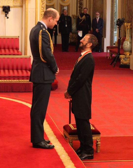 Ringo Starr is made a Knight Bachelor of the British Empire in 2018