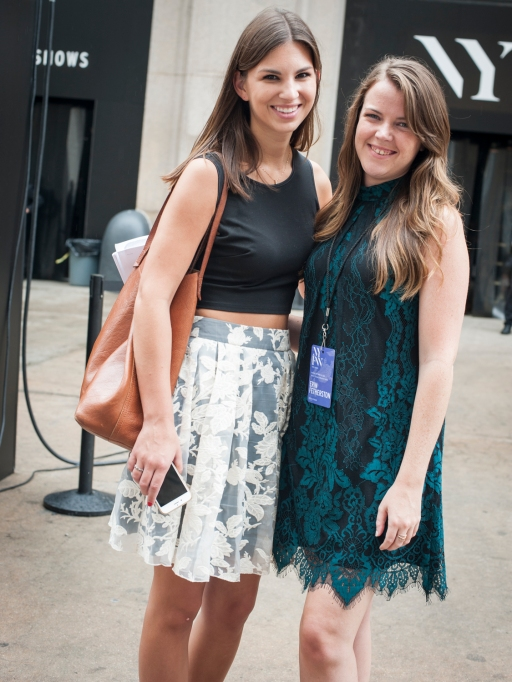 Fashion week street style lace and floral outfit