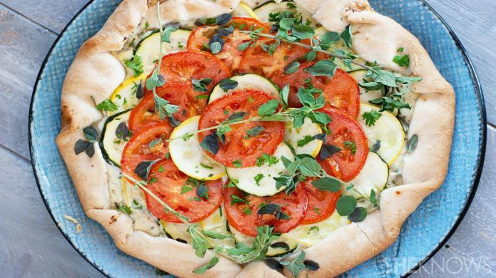 A rustic vegetable galette makes for