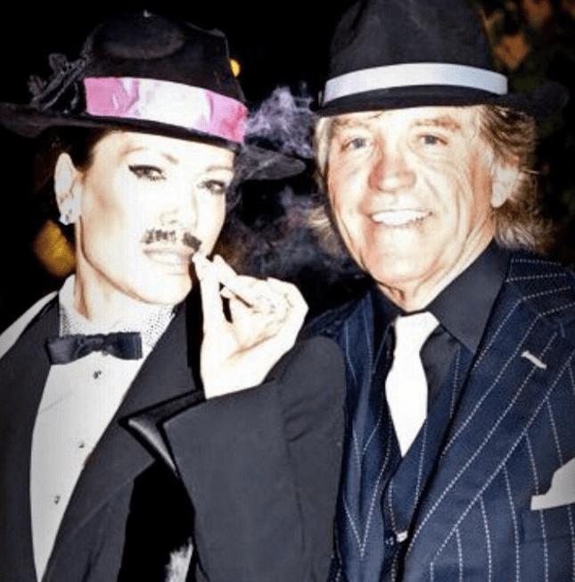 Ken Todd and Lisa Vanderpump dressed up