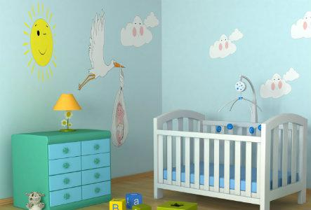 Pretty and practical storage for Baby's