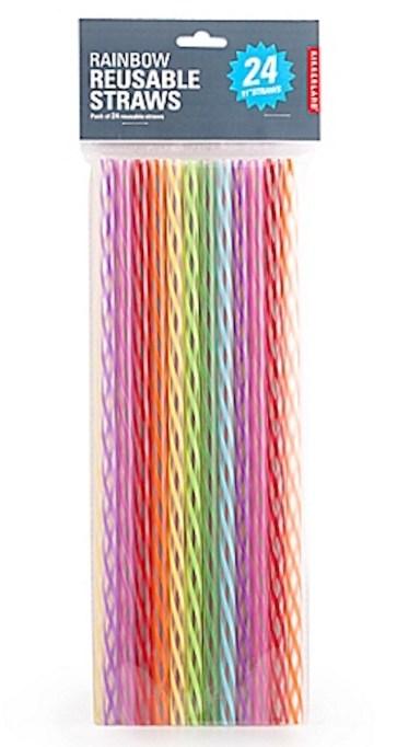 Kikkerland 24-pack, 11-inch reusable straws