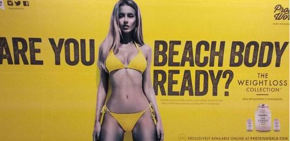 Feminists don bikinis to show Protein