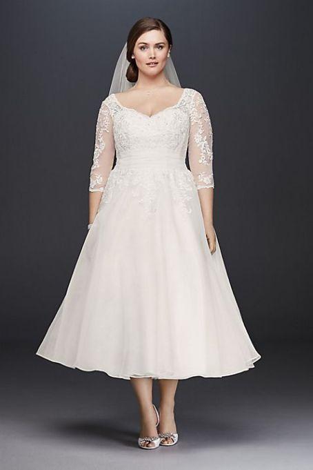 Tulle Tea-Length Wedding Dress
