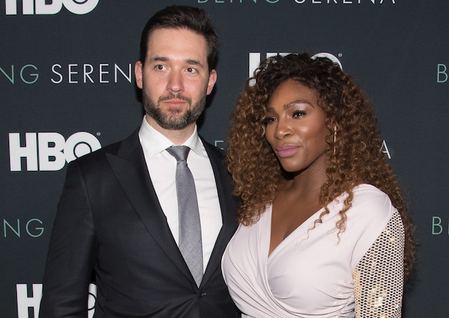 Serena Williams and husband Alexis Ohanian attend the 'Being Serena' New York Premiere