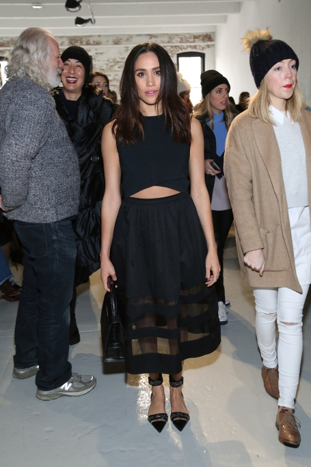 Meghan Markle's Most Fashionable Outfits |Attending the Misha Nonoo fashion show during Fashion Week Fall 2015
